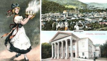 Meiningen, Stadtansicht, Herzogl. Hoftheater, Thüringer Klöße