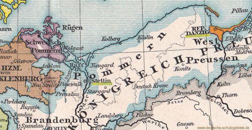 Schwedisch-Pommern und Preußisch-Pommern, 1812