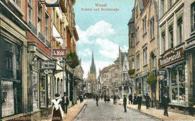 Wesel, Viehtor und Brückstraße
