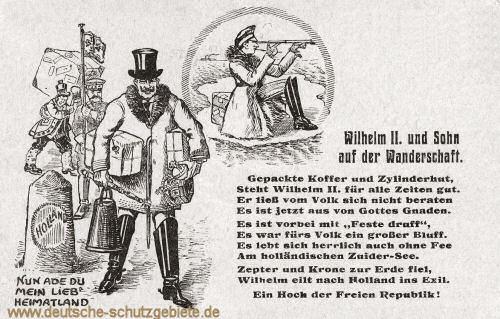 Wilhelm II. und Sohn auf der Wanderschaft