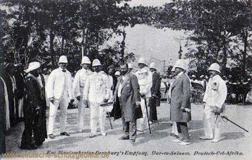 Exzellenz Staatssekretär Dernburg's Empfang, Dar-es-Salaam 1908, Deutsch-Ost-Afrika