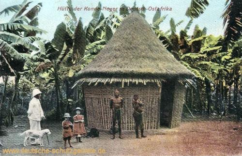 Deutsch-Ostafrika, Hütte der Konde