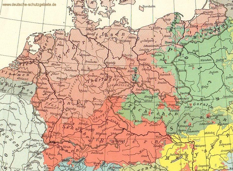 Schwaben Karte Deutschland.Deutsche Stämme Franken Thüringer Alemannen Bayern Sachsen
