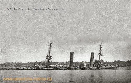 S.M.S. Königsberg nach der Versenkung