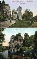 Teutoburger Wald. Externsteine - Land- Wasserseite