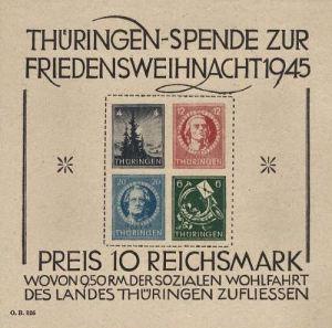 Thüringen Blockausgabe 1945