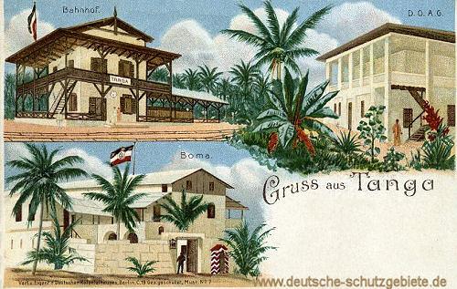 Deutsch-Ostafrika, Tanga, Boma, Bahnhof, D.O.A.G.