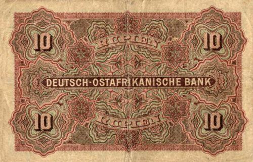 Deutsch-Ostafrikanische Bank 10 Rupien, 1905