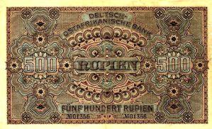 Deutsch-Ostafrikanische_Bank 500 Rupien, 1912