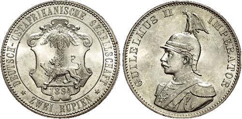 Deutsch-Ostafrikanische Gesellschaft 2 Rupien, 1894