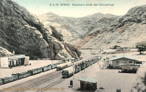 Deutsch-Südwest-Afrika, Eisenbahn durch das Khangebirge