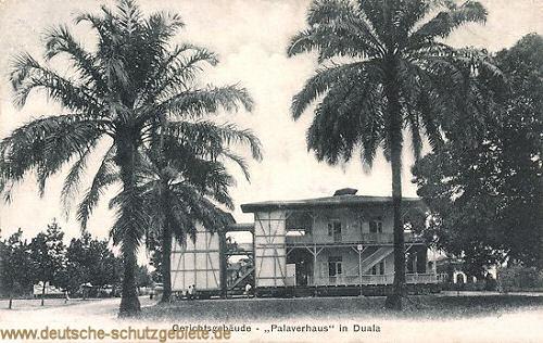 "Kamerun, Duala, Gerichtsgebäude ""Palaverhaus"""