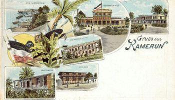 Kamerun, Kamerunstrand, Gouverneur-Haus, Post, Beamtenmesse, Schulhaus, Hafenamt