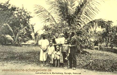 Kamerun, Lehrerfamilie in Marienberg, Sanaga