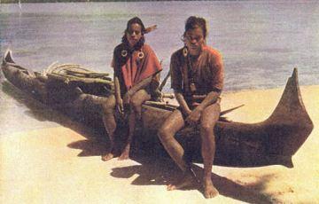 Ost-Karolinen, Eingeborene von der Insel Truk