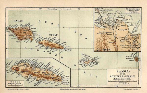 Samoa oder Schiffer-Inseln