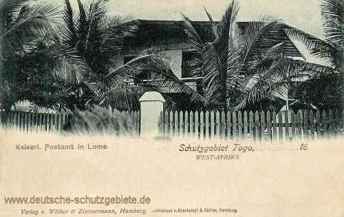 Schutzgebiet Togo, Kaiserliches Postamt in Lome