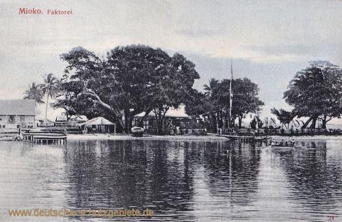 Deutsch-Neu-Guinea, Mioko. Faktorei