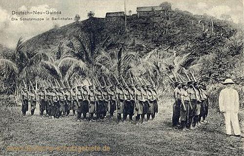Deutsch-Neu-Guinea, die Schutztruppe in Berlinhafen