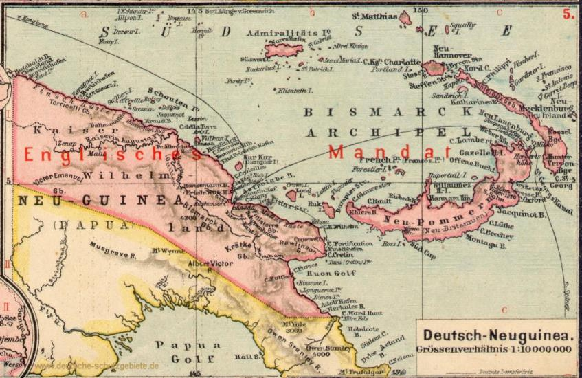 Landkarte Deutsch.Deutsch Neuguinea Landkarte 1919 Deutsche Schutzgebiete De