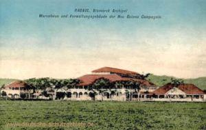 Deutsch-Neuguinea, Rabaul, Bismarck-Archipel, Warenhaus und Verwaltungsgebäude der Neu Guinea Compagnie