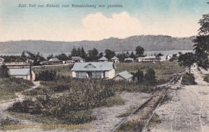 Deutsch Neu-Guinea, Südlicher Teil von Rabaul, vom Namanulaweg aus gesehen