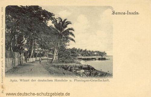 Samoa, Apia, Wharf der deutschen Handels- u. Plantagen-Gesellschaft