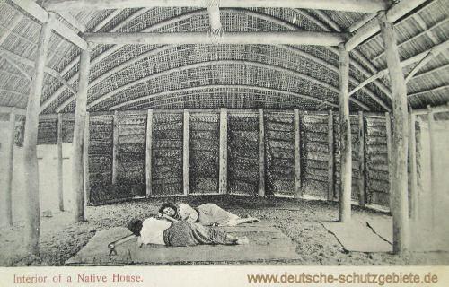 Samoa, Interior of a Native House