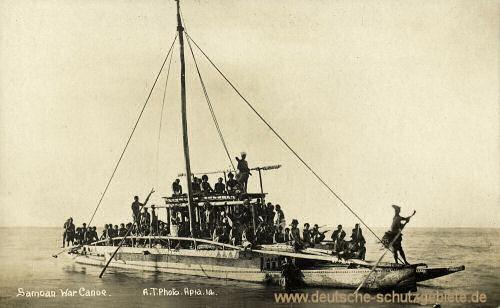 Samoa, Samoan War-Canoe