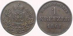 1 Kreuzer 1868, Schwarzburg-Rudolstadt