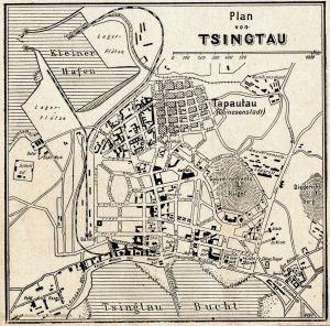 Tsingtau, Stadtplan