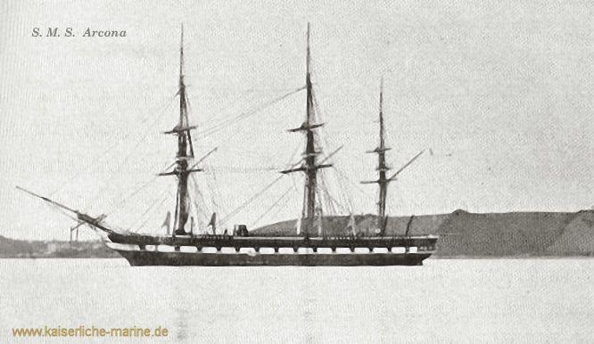 S.M.S. Arcona, Gedeckte Korvette