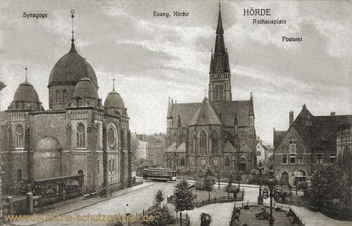 Hörde, Synagoge, Evang. Kirche, Rathausplatz, Postamt