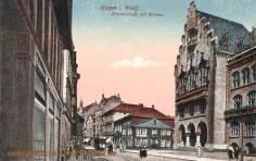 Hagen i. W., Körnerstraße mit Rathaus