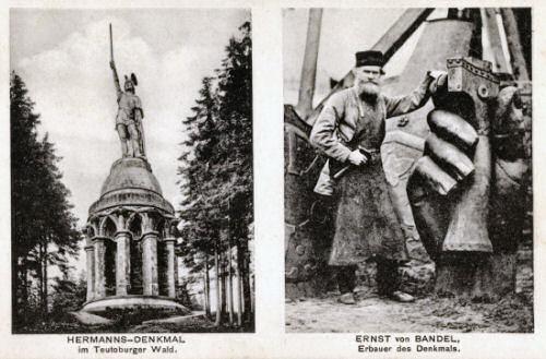Hermannsdenkmal und Ernst von Bandel
