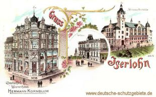 Iserlohn, Deutsches Warenhaus Kornblum, Rathaus, Alexanderhöhe