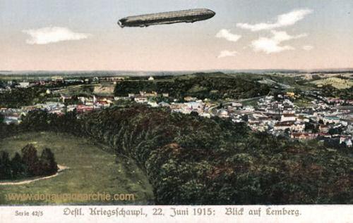 Östlicher Kriegsschauplatz, 22. Juni 1915: Blick auf Lemberg