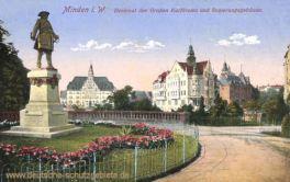 Minden i. W., Denkmal des Großen Kurfürsten und Regierungsgebäude