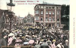 Minden i. W., Freischiessen Ausmarsch der Bürger-Kavallerie