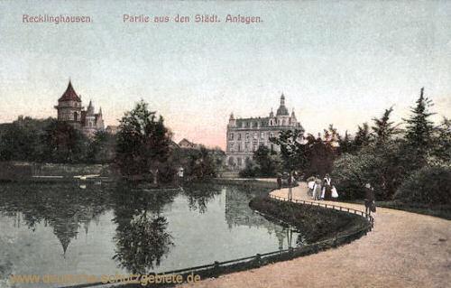 Recklinghausen, Partie aus den städtischen Anlagen