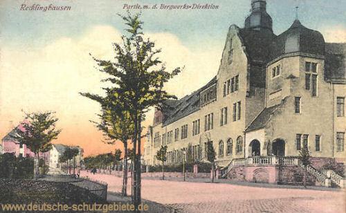 Recklinghausen, Partie mit der Bergwerks-Direktion