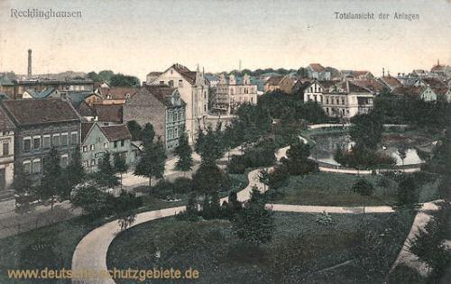 Recklinghausen, Totalansicht der Anlagen