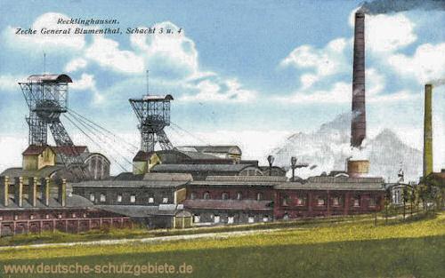 Recklinghausen, Zeche General Blumenthal Schacht 3 und 4