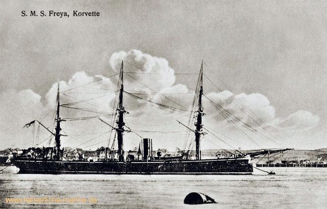 S.M.S. Freya, Korvette