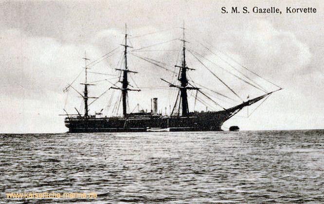 S.M.S. Gazelle, Korvette