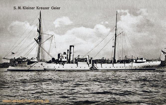 S.M.S. Geier, Kleiner Kreuzer