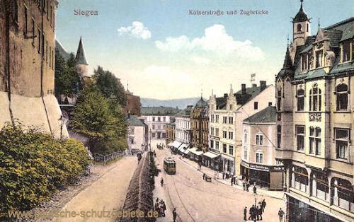Siegen, Kölnerstraße und Zugbrücke