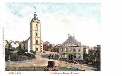 Siegen, Marktplatz mit Kaiser-Denkmal