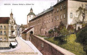Siegen, Unteres Schloss und Kölner Tor