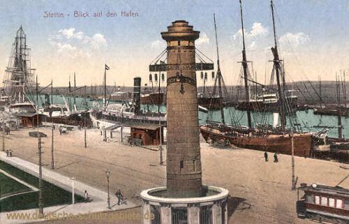 Stettin, Blick auf den Hafen